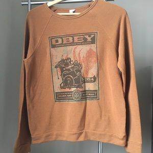 Obey- Size Medium long sleeve pullover